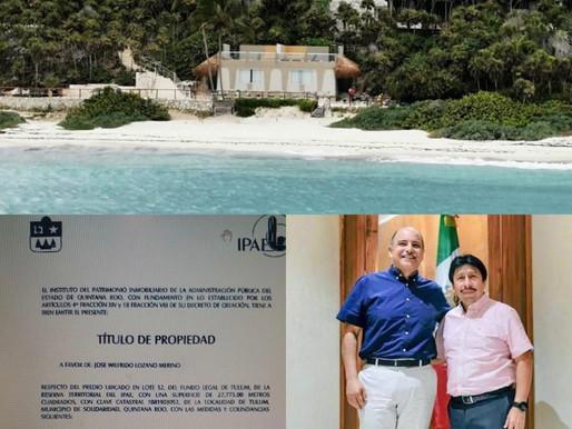 FÉLIX GONZÁLEZ REGALÓ TERRENOS DONDE SE CONSTRUYÓ MANSIÓN CERCANA A ZONA ARQUEOLÓGICA DE TULUM.