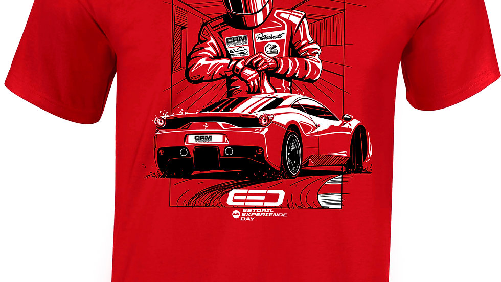 """T-shirt """"Estoril Experience Day"""" Red"""