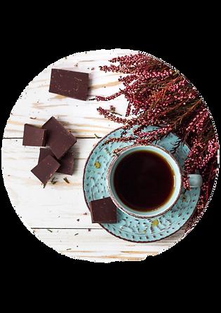 Dark chocolate and black tea