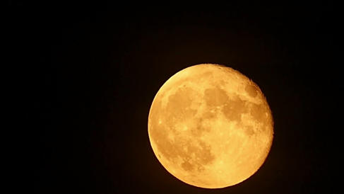 Blood Super Moon rising