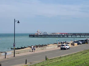 Herne Bay sea front. The air was so fresh and the view was beautiful.