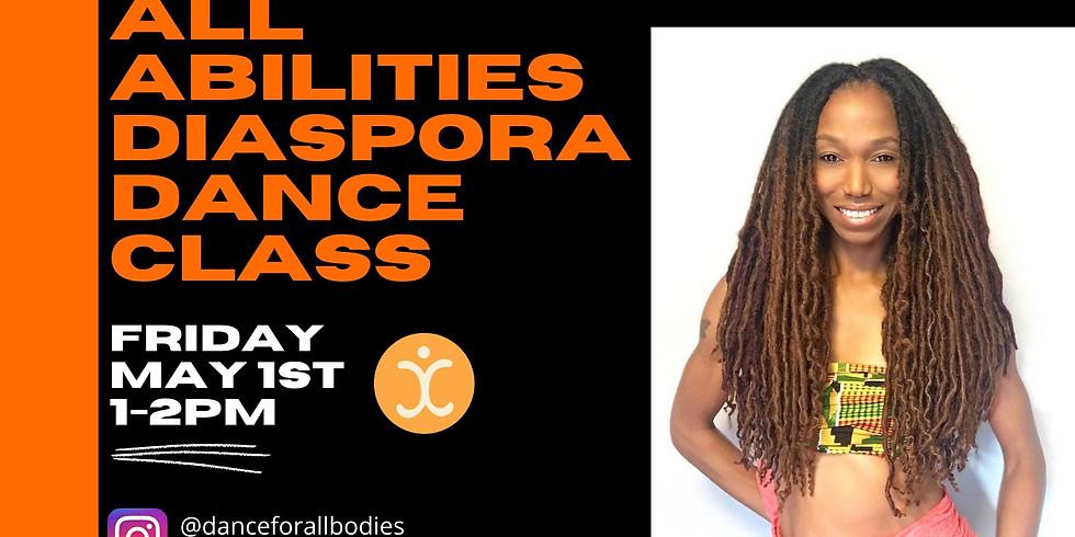 Virtual Diaspora Dance Class for All Abilities