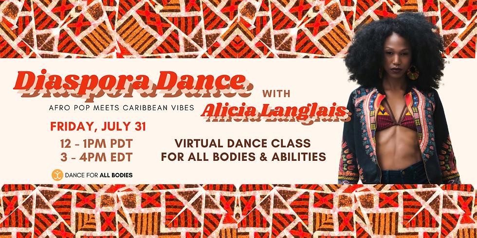 All Abilities Diaspora Dance Class (Virtual)