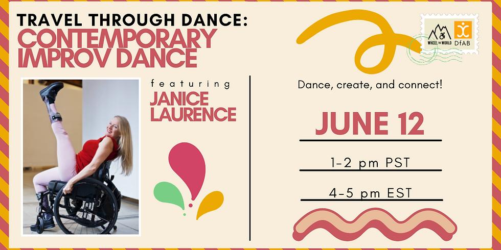 Travel Through Dance: Contemporary Improv