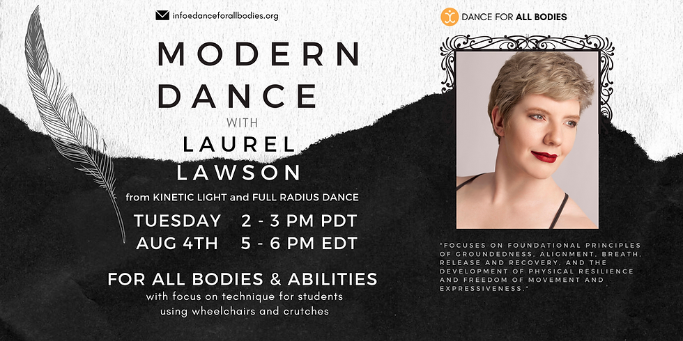 All Abilities Modern Dance with Laurel Lawson (Virtual)