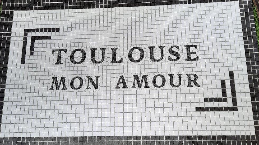 Tapis 'Toulouse mon amour'