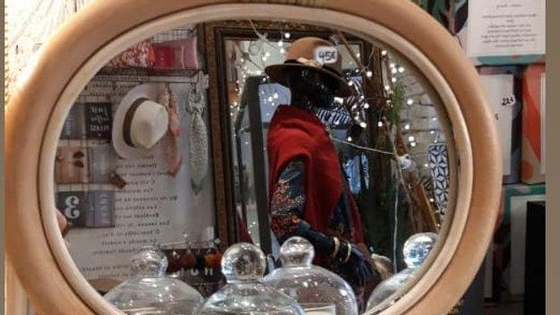 Miroir rotin pomme