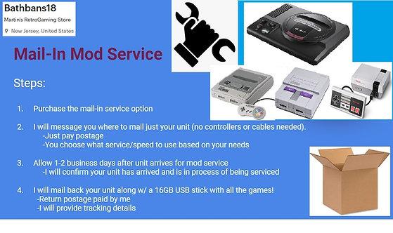 SNES or NES Mini -2600+ Games [Mail in Service] NO CONSOLE