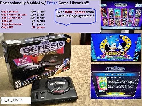 Sega Genesis Mini w/ 1500+Games (Sega CD, Dreamcast, 32X, Game Gear)