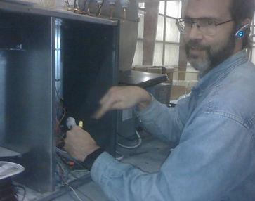 Hvac Contractor Working