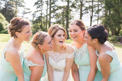Bride and bridesmaids wedding makeup
