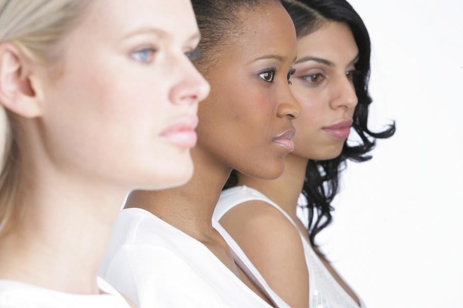 Makeup in different skin tones