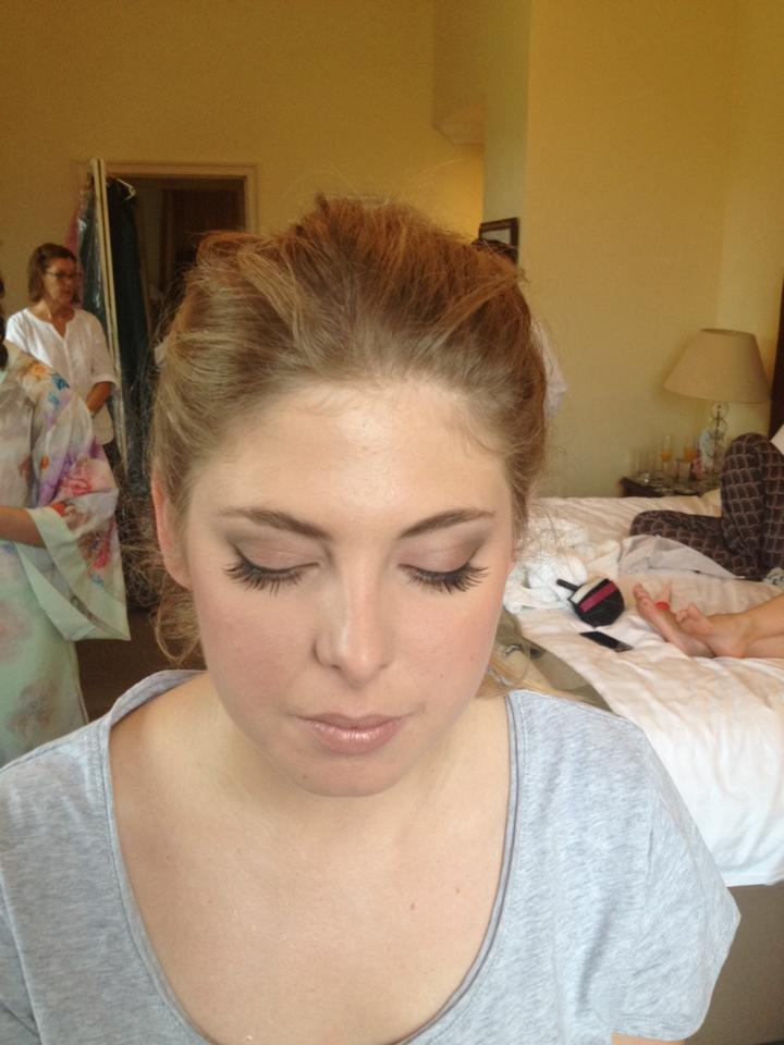 natural makeup for bridesmaid