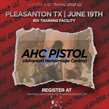Advanced Hemorrhage Control (AHC) Pistol