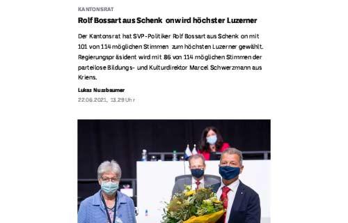 Rolf Bossart aus Schenkon wird höchster Luzerner