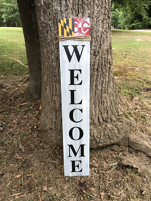 Maryland Porch Sign Welcome