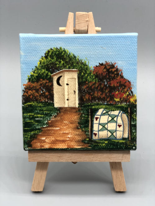 Outhouse Mini Canvas