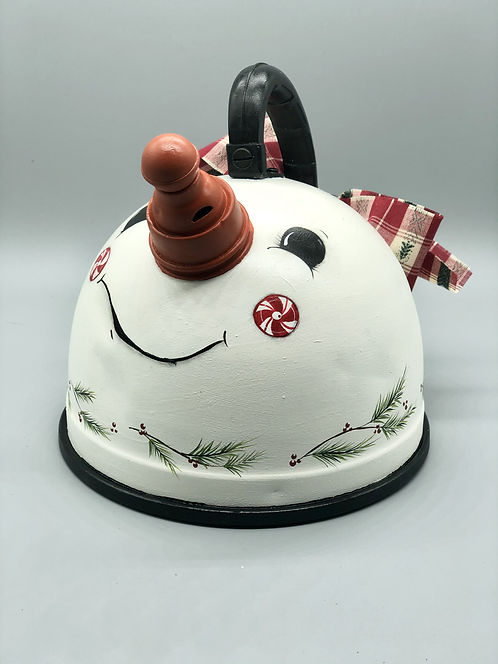 Candy Cane Snowman Tea Pots