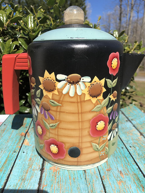 Bee Garden Coffee Pot