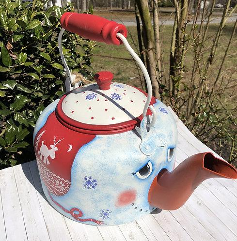 Mr. Frosty McSnow Teapot