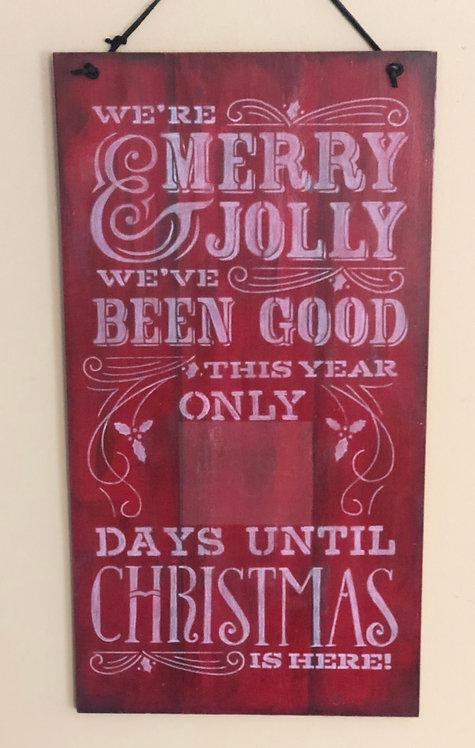 Days Til Christmas Sign