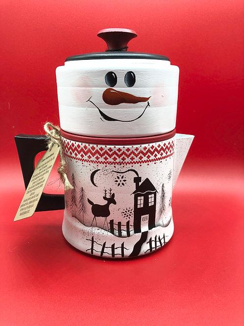 Winter Song Reindeer Coffee Pot