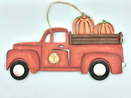 Pumpkin Truck Wall Hanging