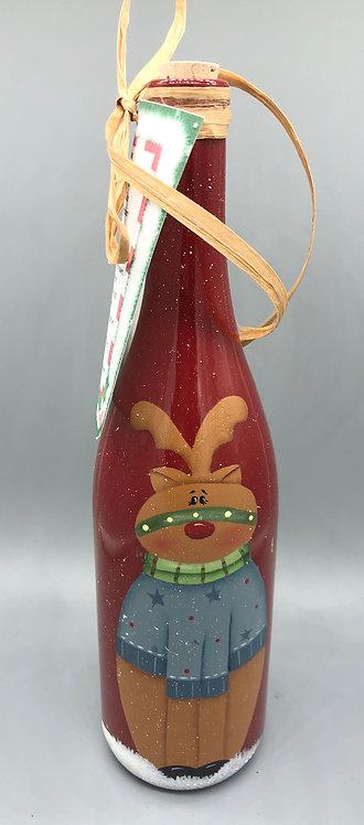 Reindeer Food Wine Bottles