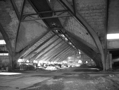 the former warehouse interior