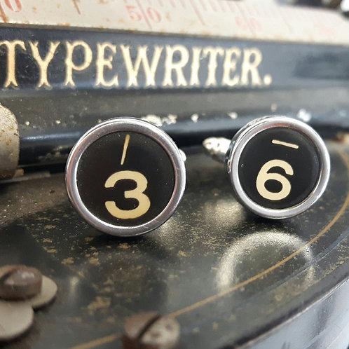 Vintage 1940's Typewriter Key Cufflinks