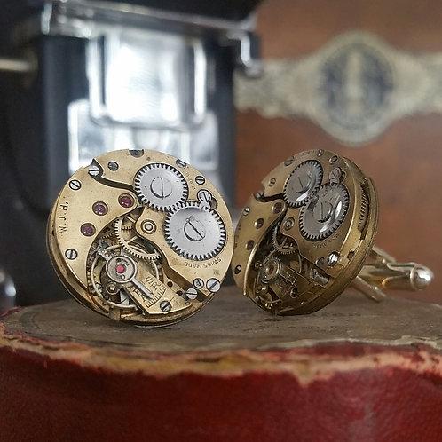 Vintage W J H Watch Cufflinks