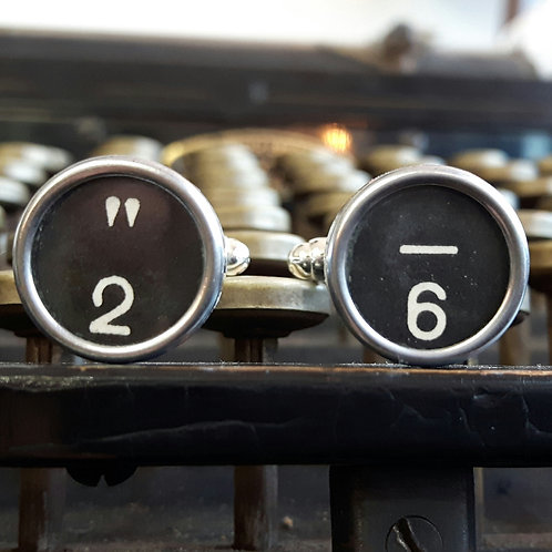 1940's Vintage Typewriter Key Cufflinks