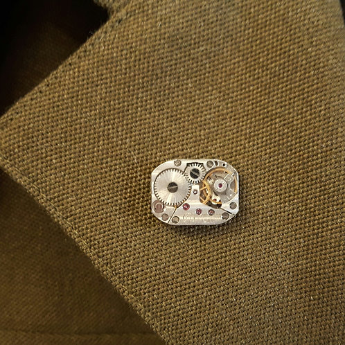 Vintage Watch Movement Pin Badge
