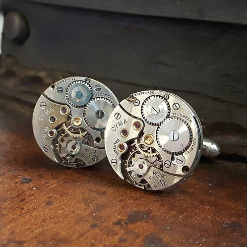 Vintage CYMA Watch Movement Cufflinks