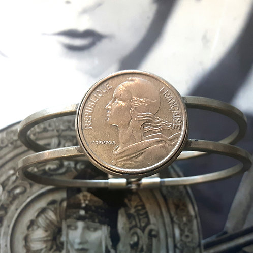 Vintage French Coin Bangle