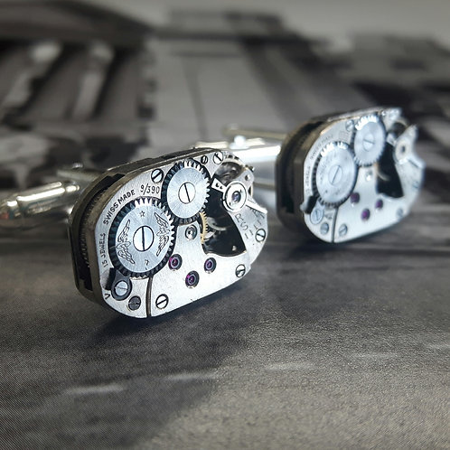 Vintage Rotary Watch Movement Cufflinks