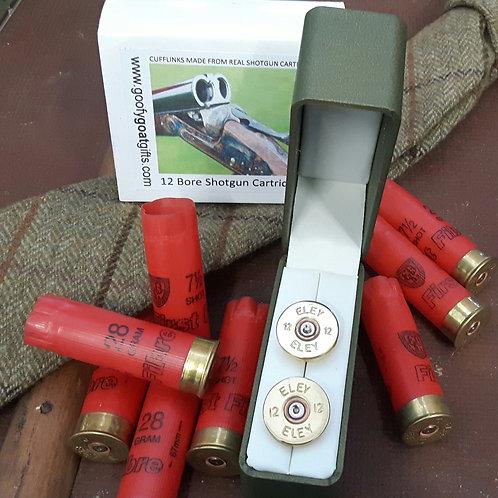 Eley 12 Bore Shotgun Cartridge Cufflinks