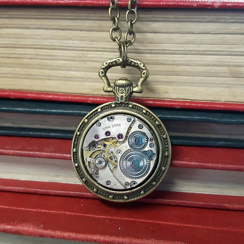 White Rabbit Vintage Watch Movement Pendant