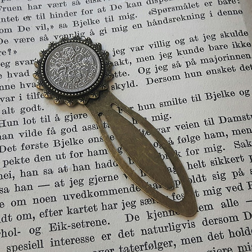 Bookmark with Sixpence Coin