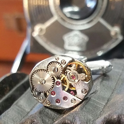 FLEURIER WATCH MOVEMENT CUFFLINKS