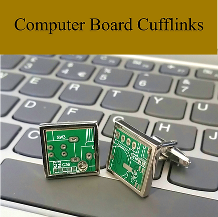 computer boards cufflinks