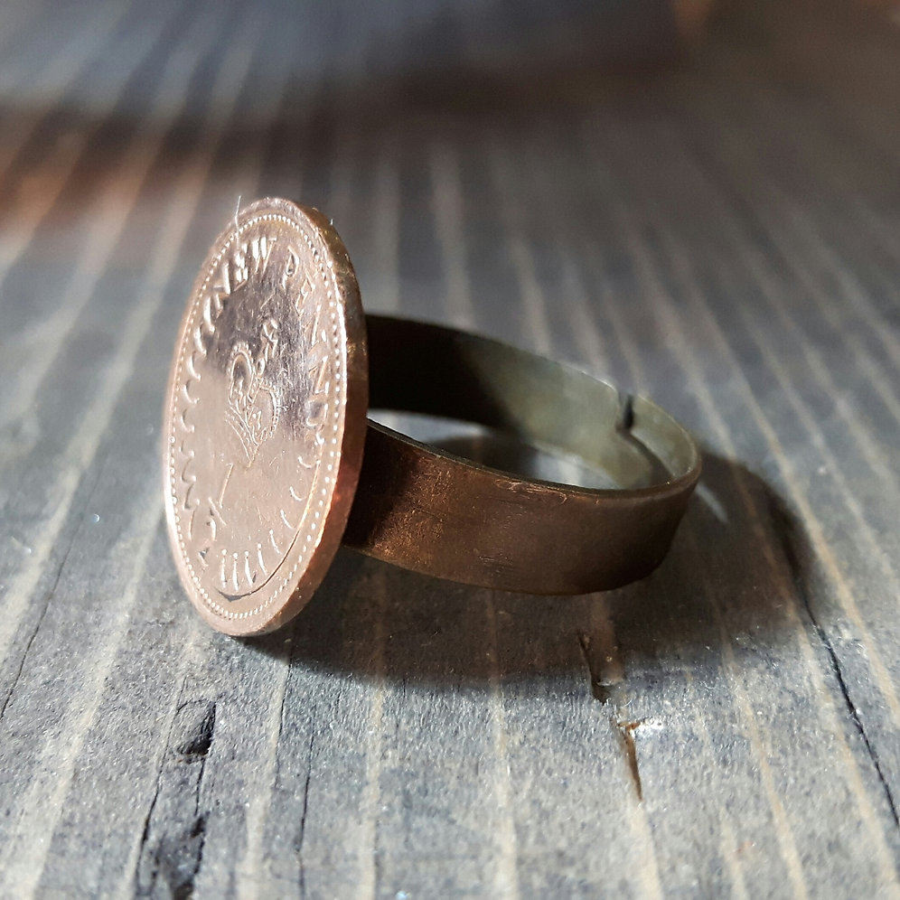 Half Pence Coin Ring