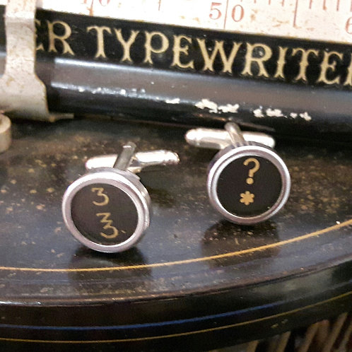 1930's Vintage Typewriter Key Cufflinks