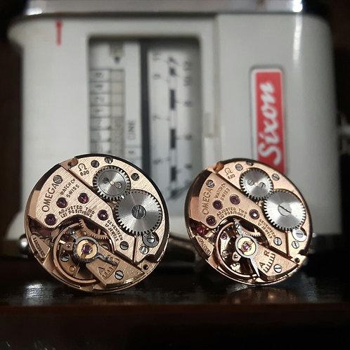 Vintage Omega Watch Movement Cufflinks