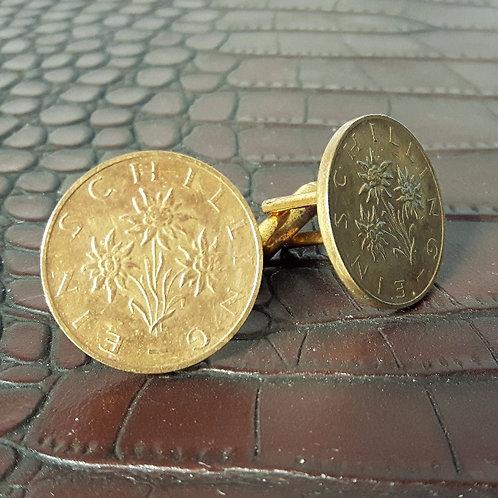 1990's Austrian Schilling Coin Cufflinks