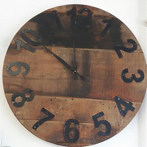 Upcycled Vintage Teak Clock