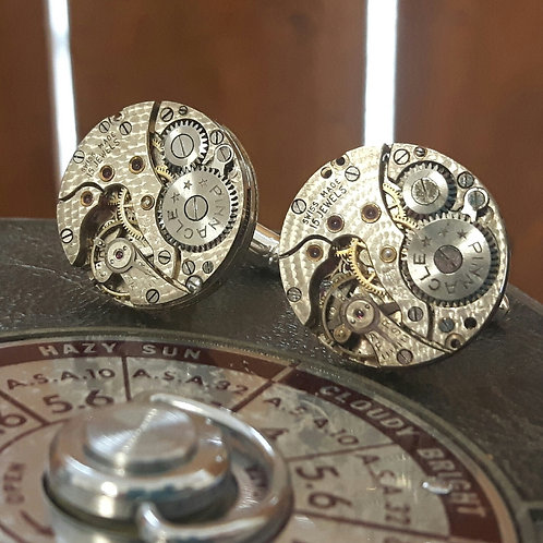 Vintage Pinnacle Watch Movement Cufflinks