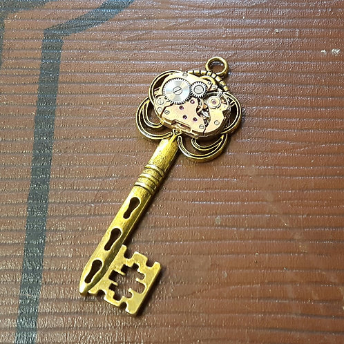 Vintage Watch Key Pendant