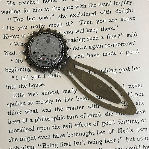 Bookmark with Vintage Watch Movement