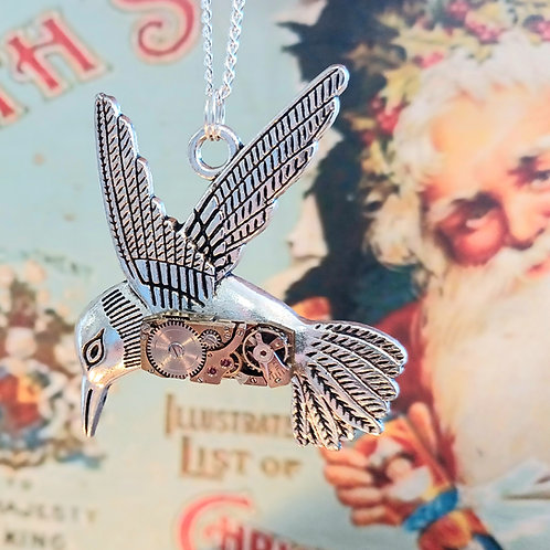 Hummingbird Vintage Watch Pendant